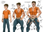 WolfNatt Art Trade (Muscle Growth Sequence) Part 1  by LYZbie