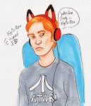 Gamer Hux  by Sparrowlicious