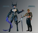 Character Renders - Innalech and Benedict| png |