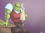 Latin American Orc Librarian  by Jubell