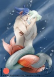 Underwater kiss by amimercury