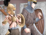 The Barbarian and the Cavalier - no-fun versions.  by MJEsperandieu