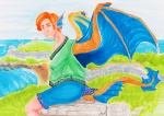 Water Dragon of Arkanis by Sparrowlicious