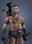 Barbarian and his Familiar by Struck3xbylightning